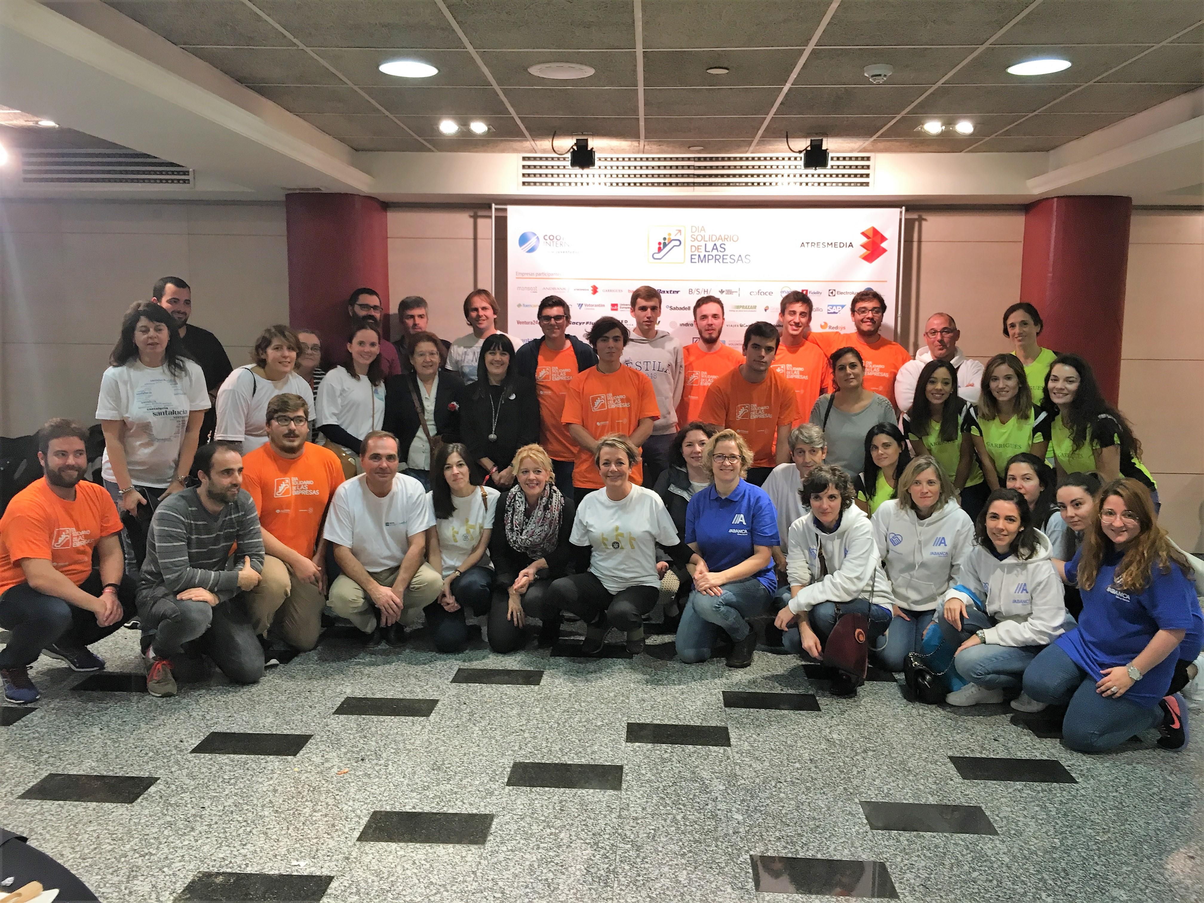 Empresas de todo el país participan en una jornada de voluntariado corporativo con sus trabajadores
